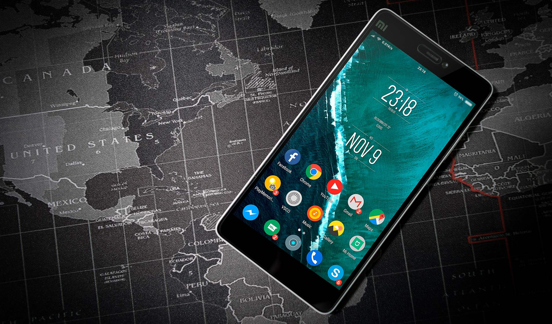 World map smartphone mobile inqbarna apps barcelona inqbarna world map with smartphone gumiabroncs Image collections