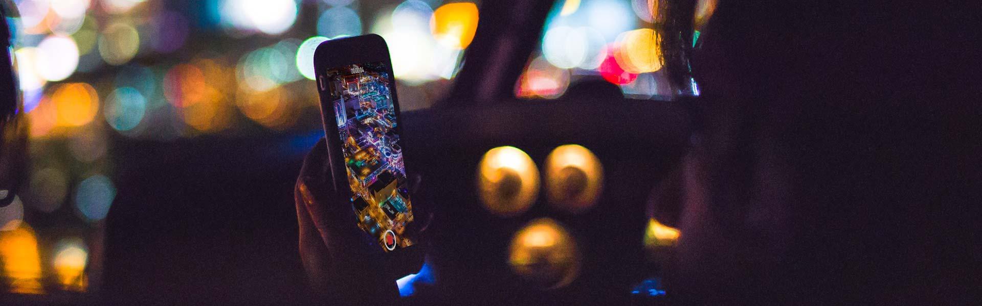 iPhone recording lights