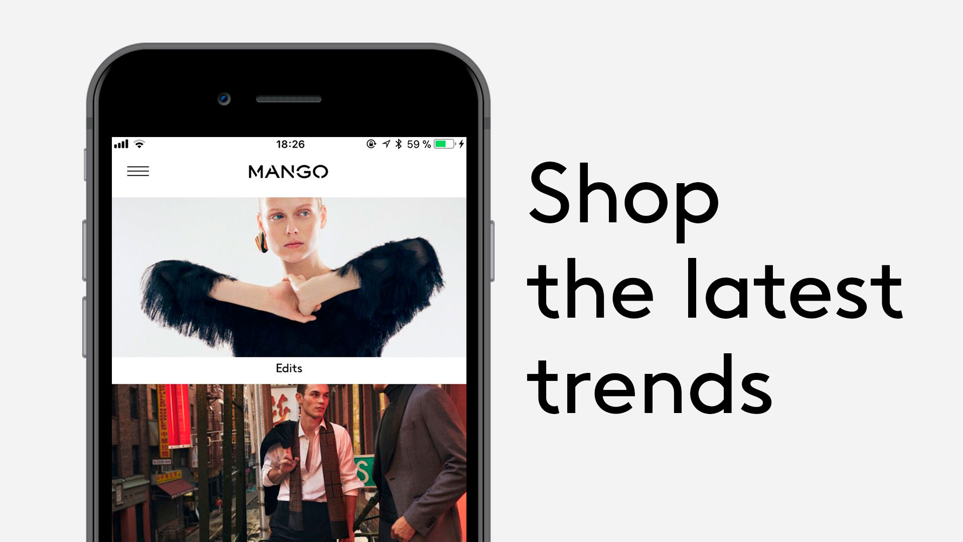 Mango banner for the app