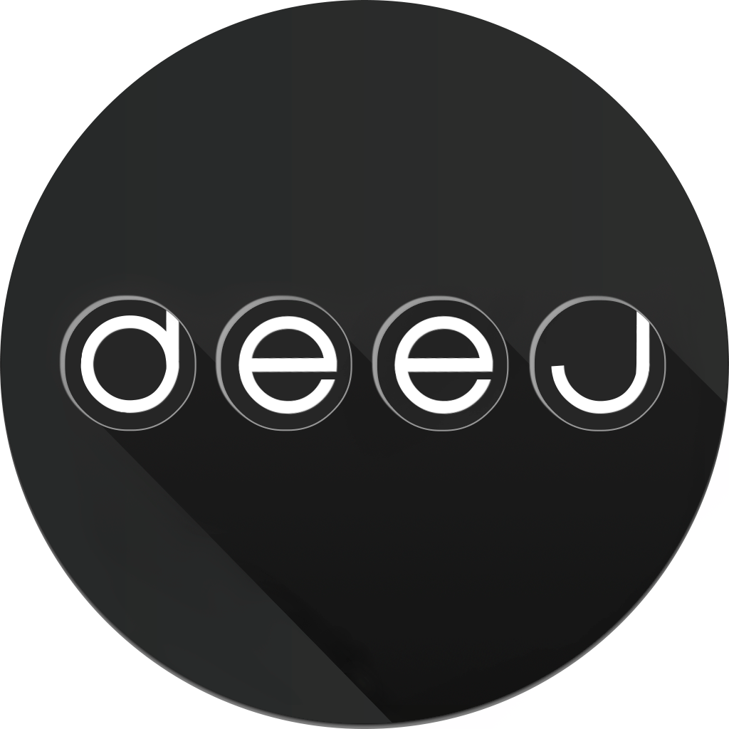 deej music app black icon