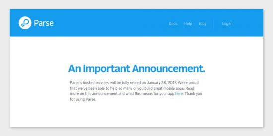 parse shutdown announcement