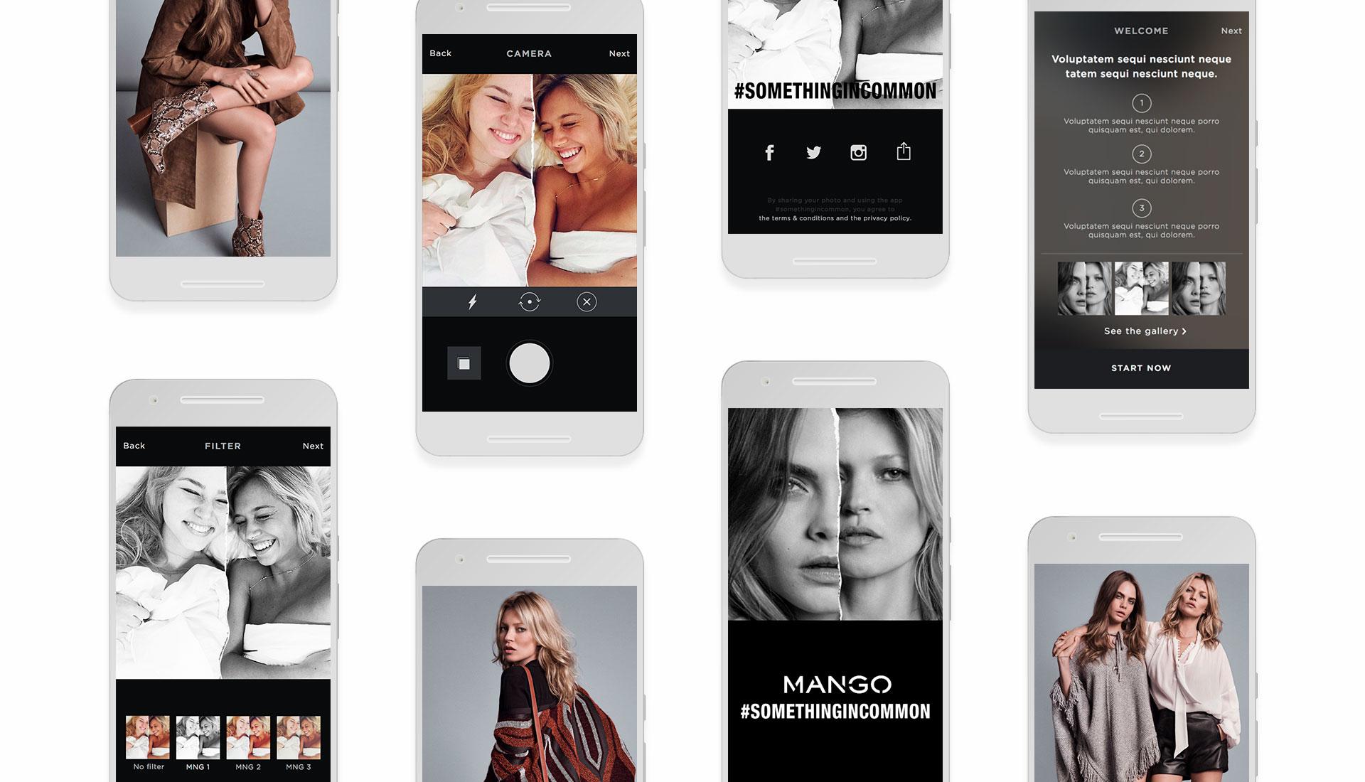 multi-device app #Somethingincommon by Mango
