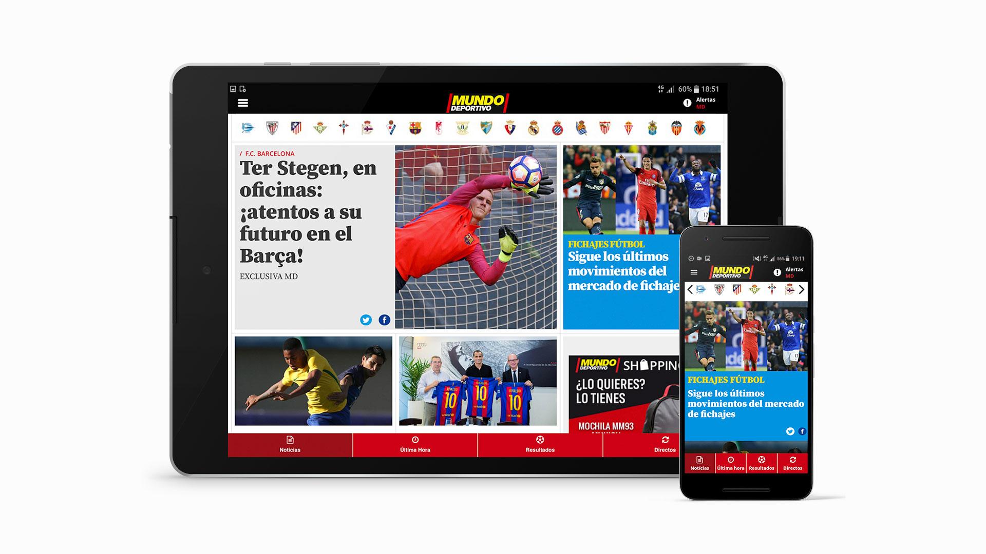 Mundo Deportivo sports multi-device app