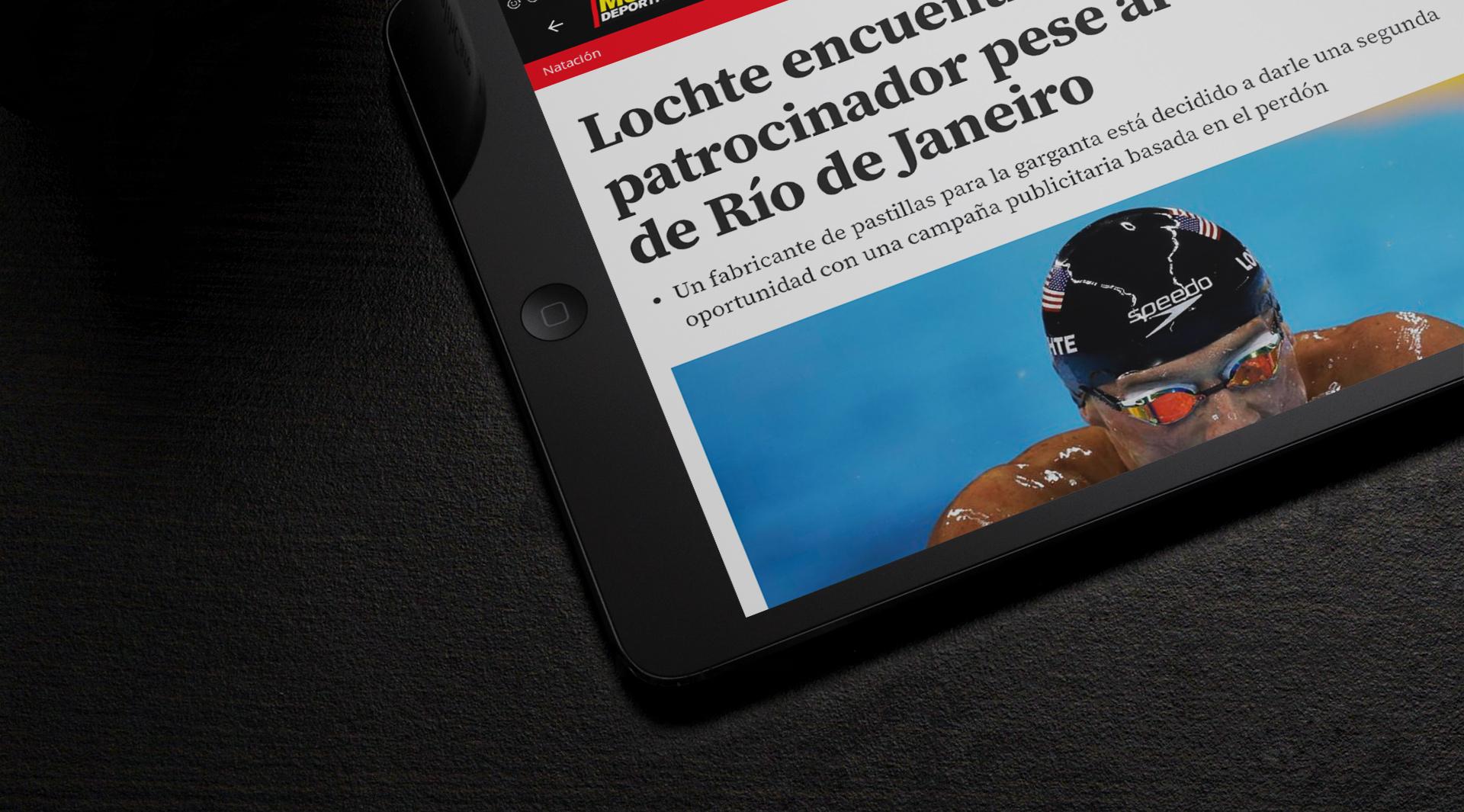 Mundo Deportivo app on iPad