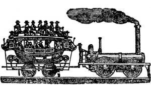 Prototipo ferrocarril siglo XVIII